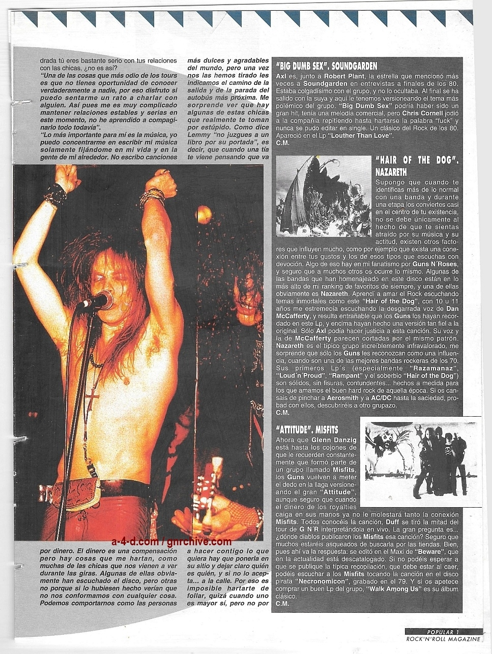 1994.01.DD - Popular 1 - Guns N' Roses Pay Tribute To Their Heroes (Duff) 1993_160