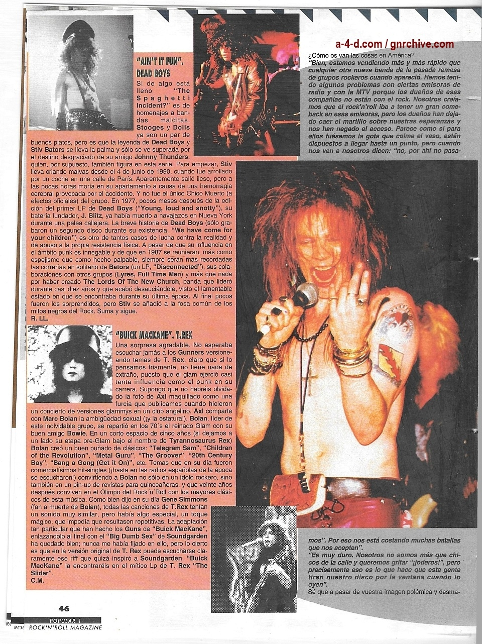 1994.01.DD - Popular 1 - Guns N' Roses Pay Tribute To Their Heroes (Duff) 1993_162