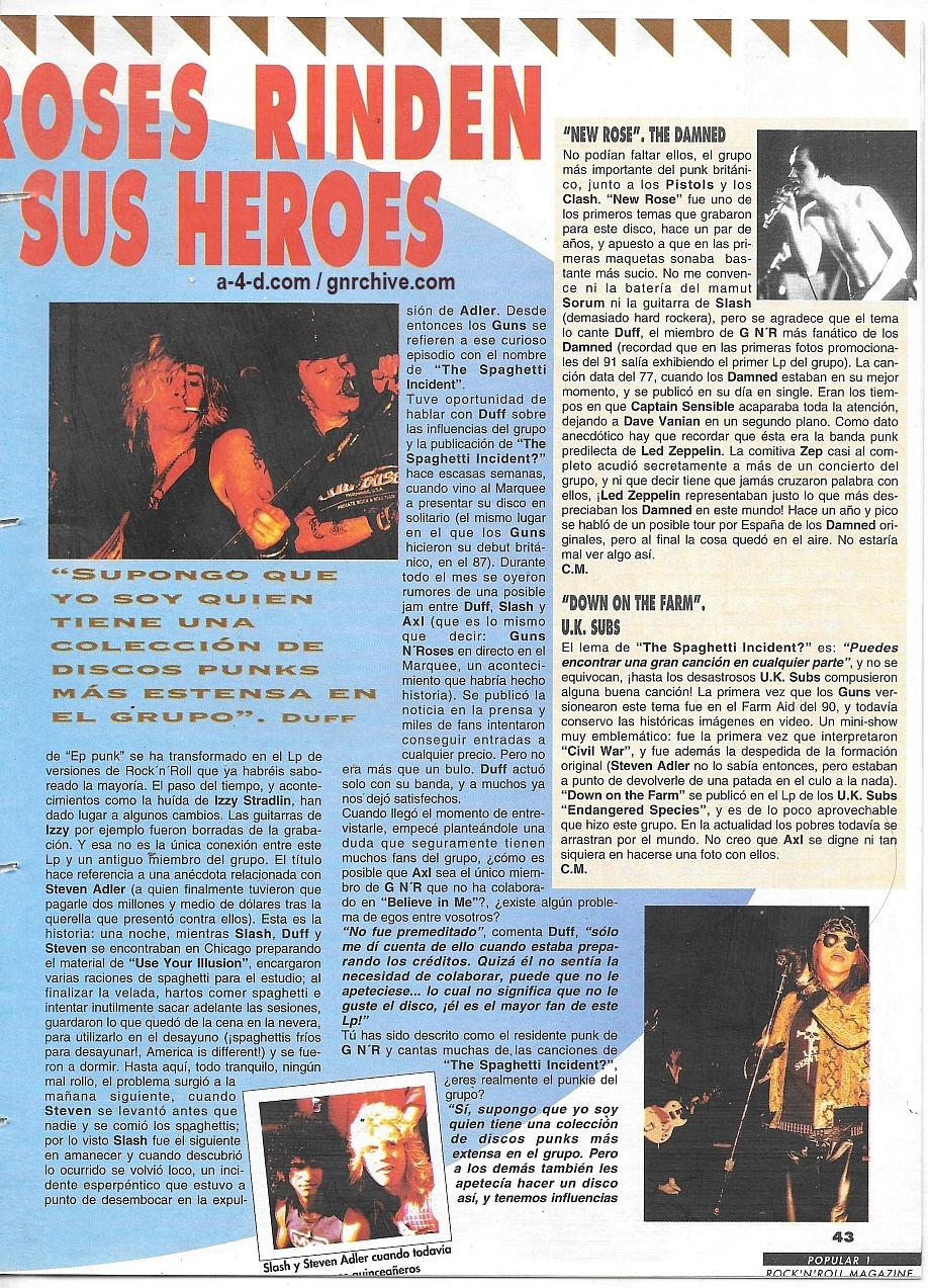 1994.01.DD - Popular 1 - Guns N' Roses Pay Tribute To Their Heroes (Duff) 1993_169
