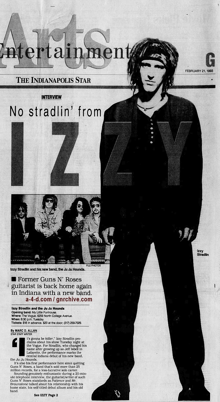 1993.02.21 - The Indianapolis Star - No Stradlin' From Izzy 1993_170