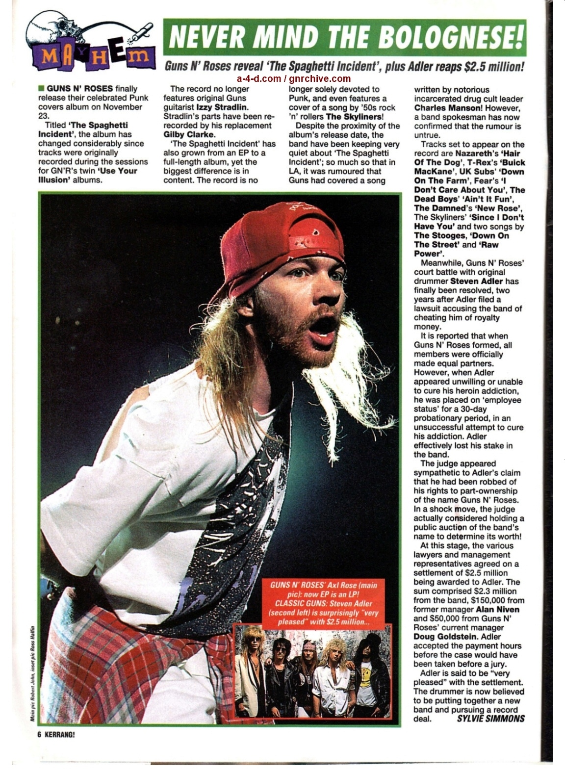 1993.10.16 - Kerrang! - Never Mind The Bolognese! 1993_185