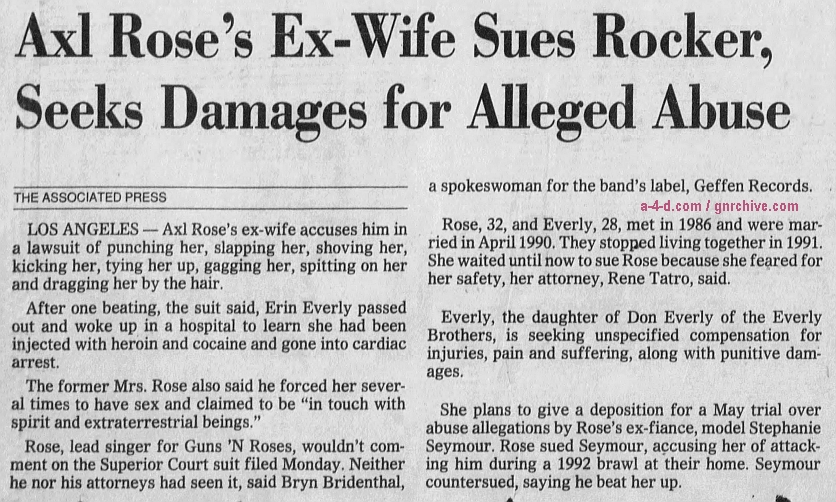 1994.03.08 - Los Angeles Times - Ex-Wife Sues Axl Rose, Alleges Years of Abuse 1994_011