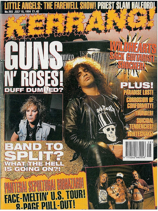 1994.07.16 - Kerrang - Duff Fired? Guns To Split? (Slash) 1994_028