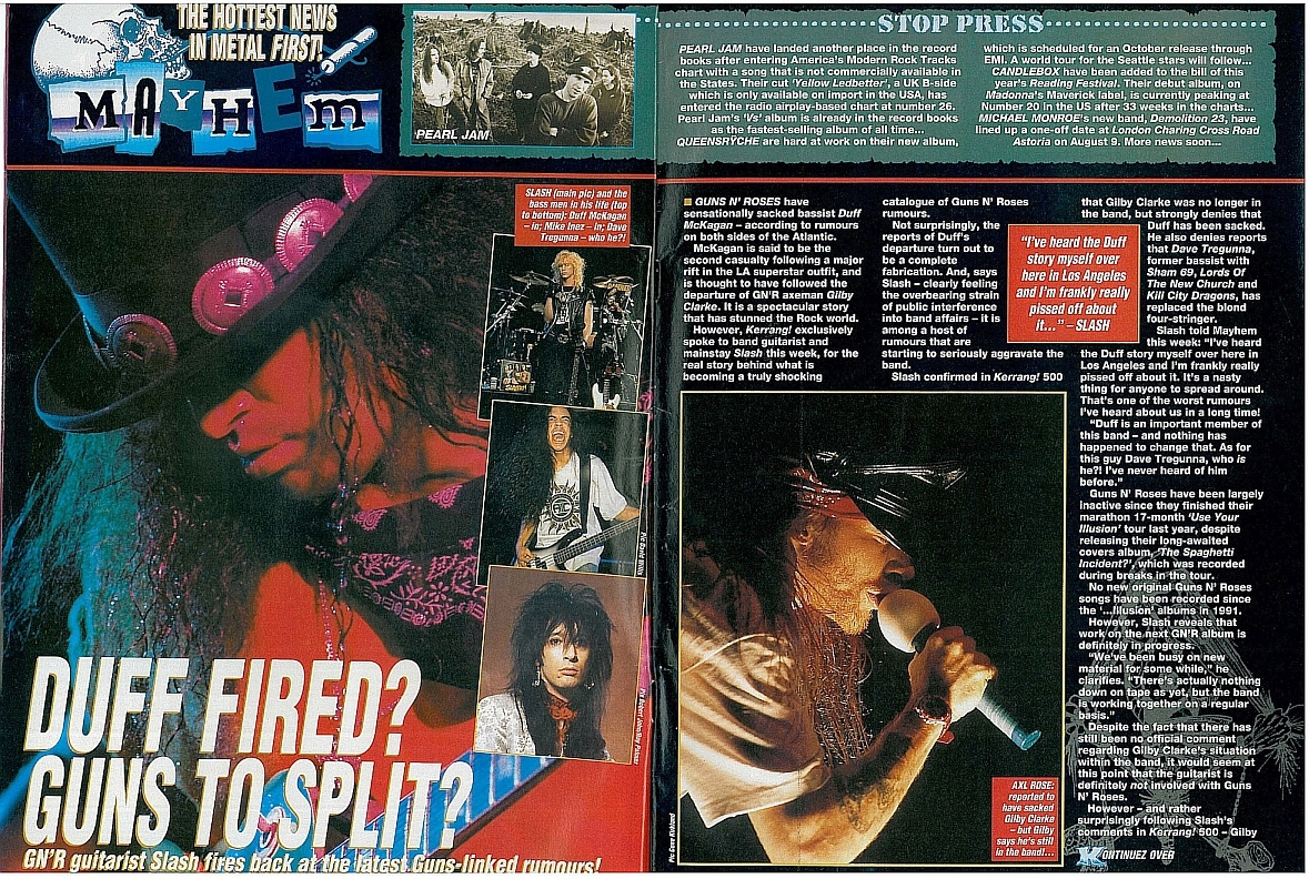 1994.07.16 - Kerrang - Duff Fired? Guns To Split? (Slash) 1994_032