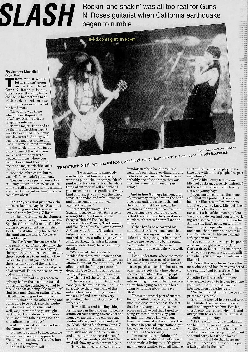 1994.01.29 - The Calgary Herald - Interview with Slash 1994_034