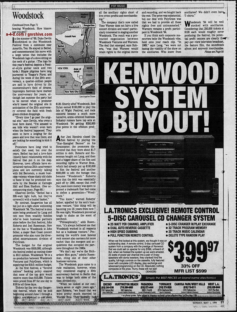 1994.04.21 - AP/Press and Sun Bulletin - Woodstock II acts revealed 1994_047