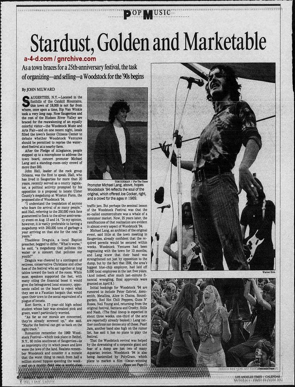 1994.04.21 - AP/Press and Sun Bulletin - Woodstock II acts revealed 1994_048