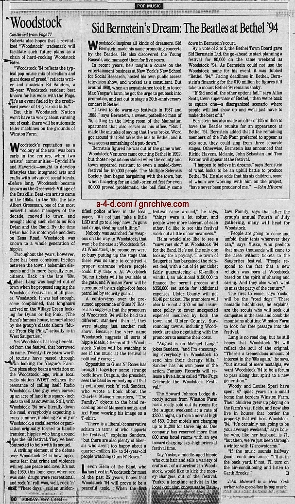 1994.04.21 - AP/Press and Sun Bulletin - Woodstock II acts revealed 1994_049