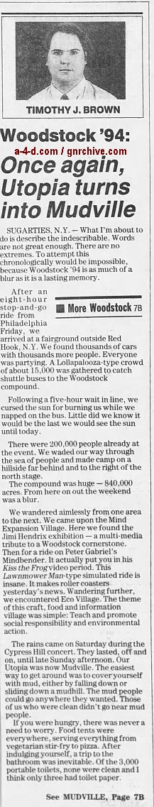 1994.04.21 - AP/Press and Sun Bulletin - Woodstock II acts revealed 1994_050