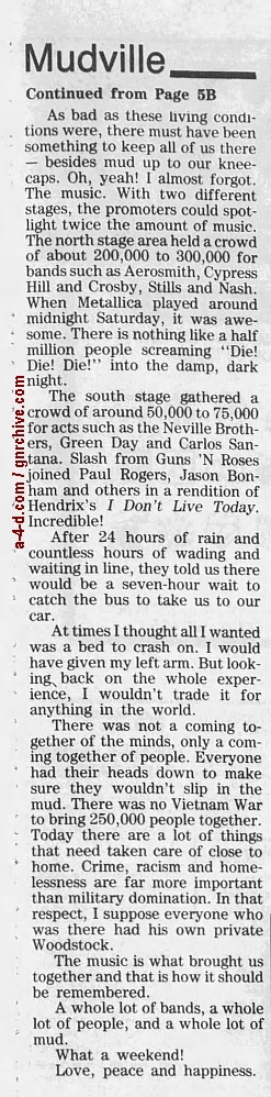 1994.04.21 - AP/Press and Sun Bulletin - Woodstock II acts revealed 1994_051