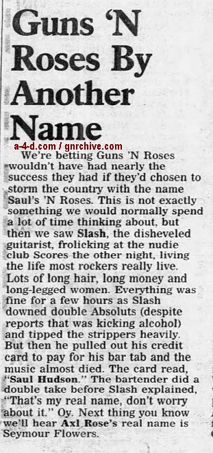 1994.08.10 - New York Daily News - Guns N' Roses By Another Name (Slash) 1994_052