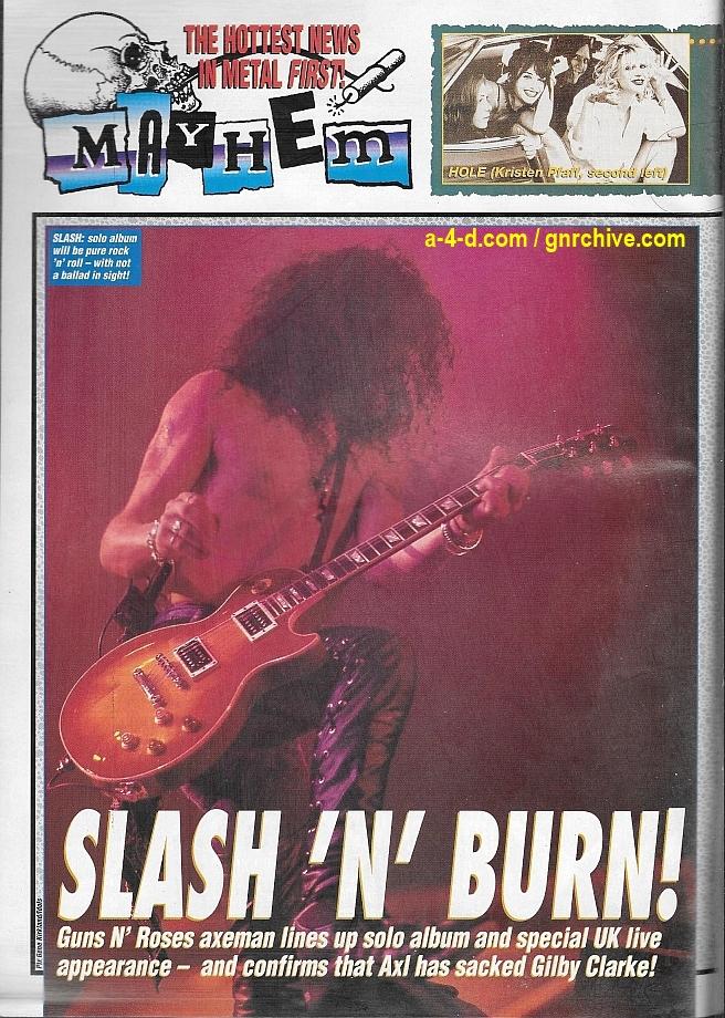 1994.06.25 - Kerrang - Slash 'N' Burn! 1994_063