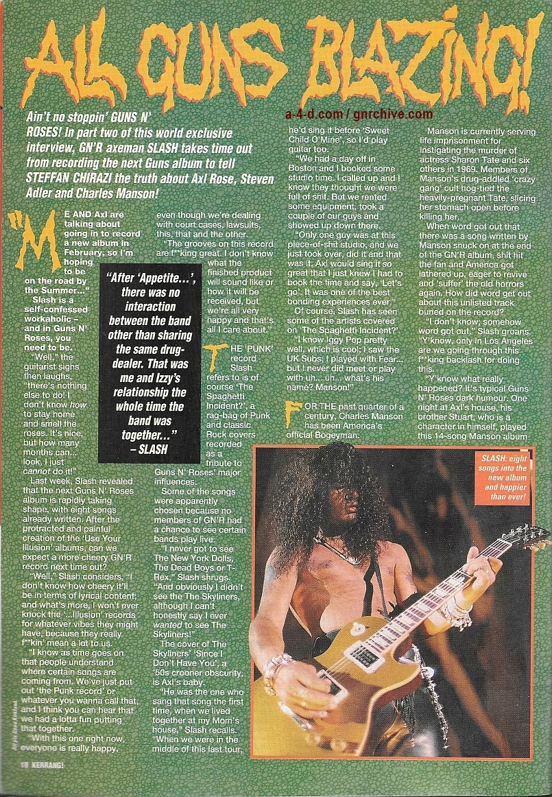 1994.01.15 - Kerrang! - All Guns Blazing! (Slash) 1994_068