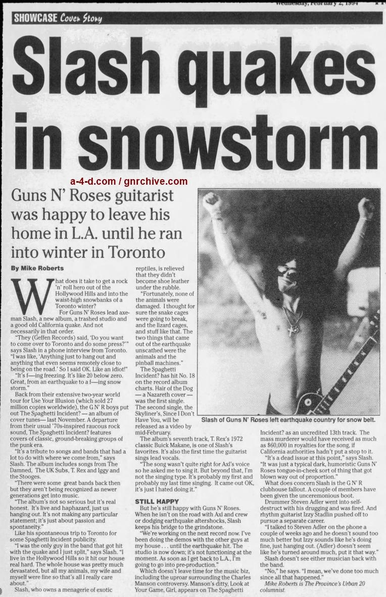1994.02.02 - The Province - Slash Quakes In Snowstorm 1994_082