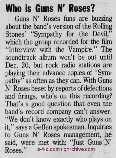 1994.11.23 - Detroit Free Press - Who Is Guns N' Roses? 1994_123
