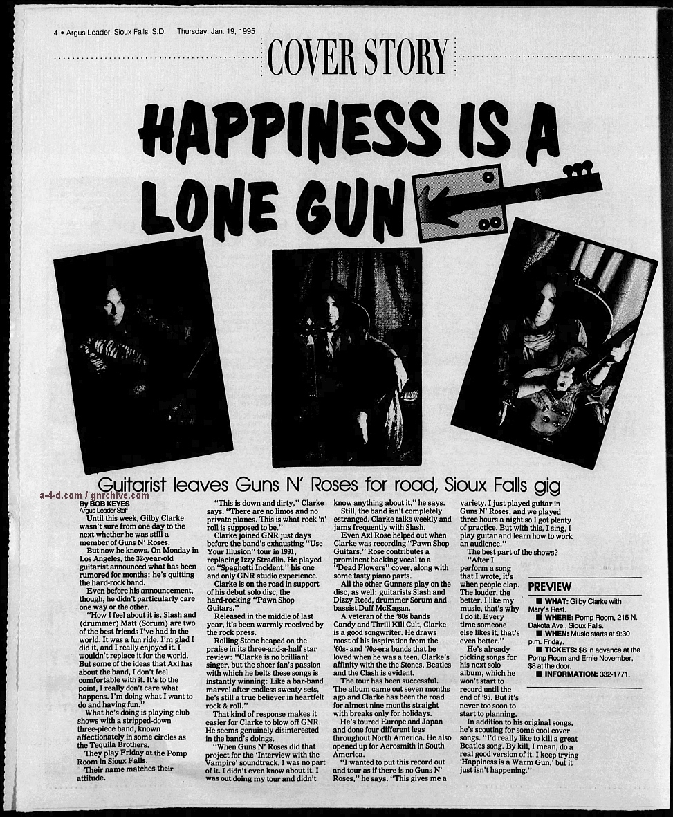 1995.01.19 - Argus Leader - Happiness Is A Lone Gun (Gilby) 1995_016