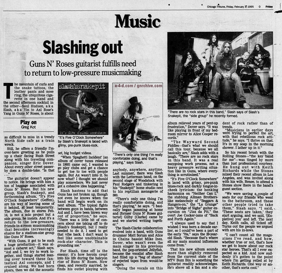 1995.02.03 - Chicago Tribune - Slashing Out (Slash) 1995_019