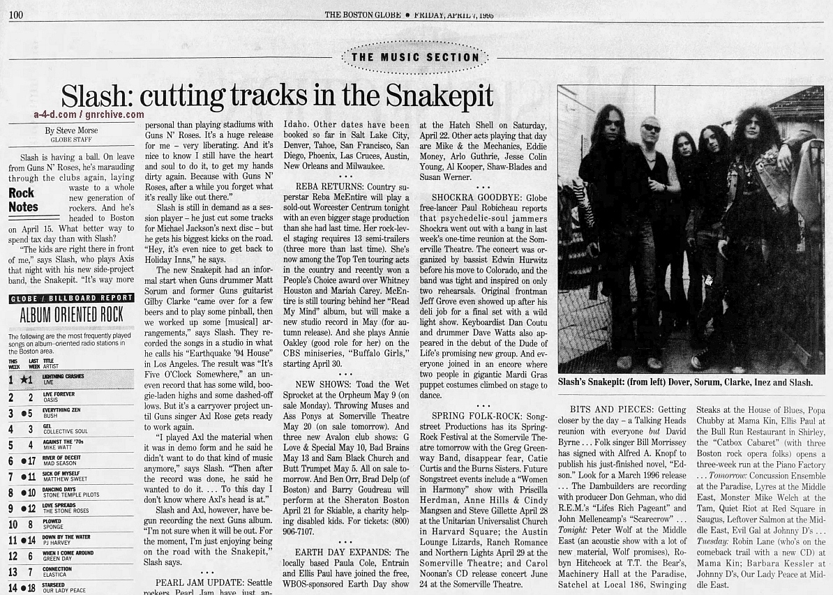 1995.04.07 - The Boston Globe - Slash: Cutting Tracks In The Snakepit 1995_024