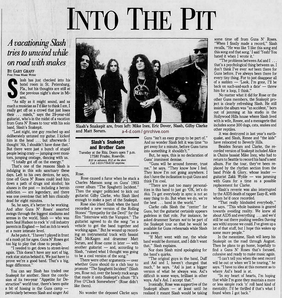 1995.04.24 - Detroit Free Press - Into The Pit (Slash) 1995_028