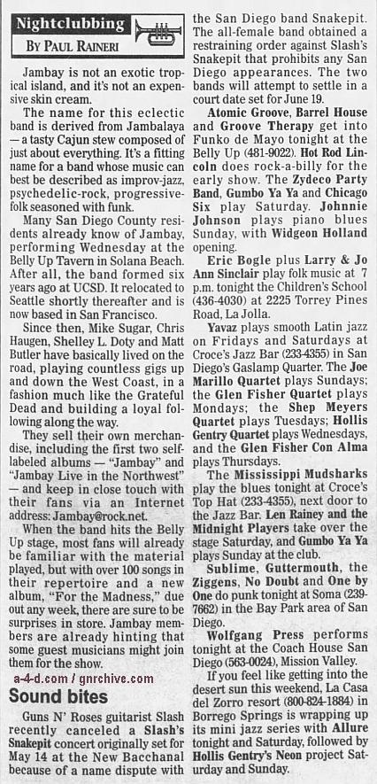 1995.05.05 - North County Times - Short Notice (Slash) 1995_030