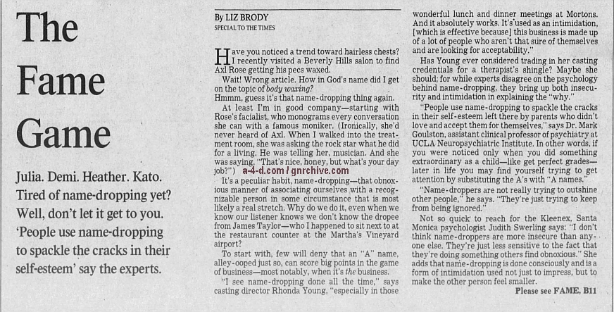1995.04.10 - Los Angeles Times - The Fame Game [Excerpt] (Axl) 1995_031