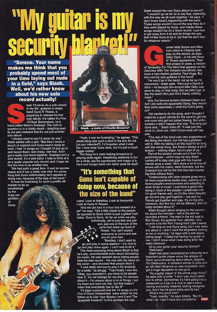 "1995.02.DD - Hot Metal - ""My Guitar Is My Security Blanket!"" (Slash) 1995_057"
