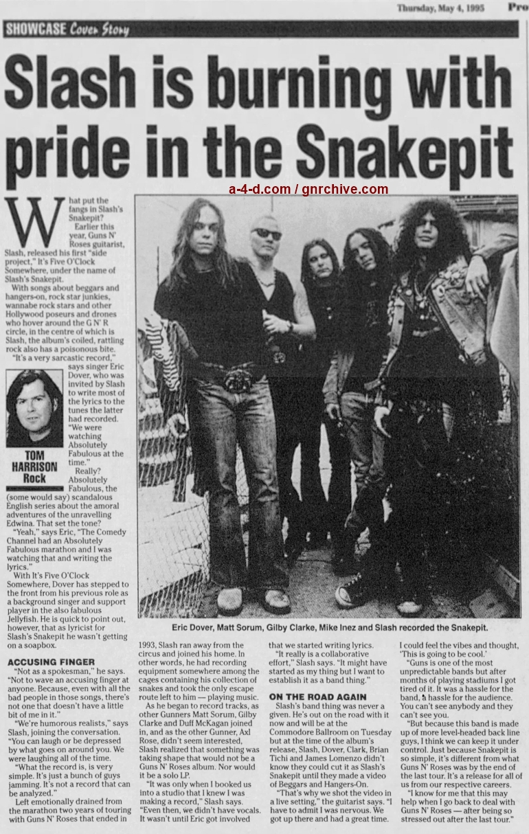 1995.05.04 - The Province - Slash Is Burning With Pride In The Snakepit 1995_073
