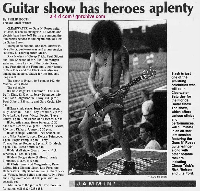 1996.02.21 - The Tampa Tribune - Guitar show has heroes aplenty (Slash) 1996_015