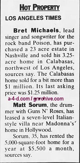 1996.02.22 - Northwest Herald/L.A. Times - Hot Property (Matt) 1996_016