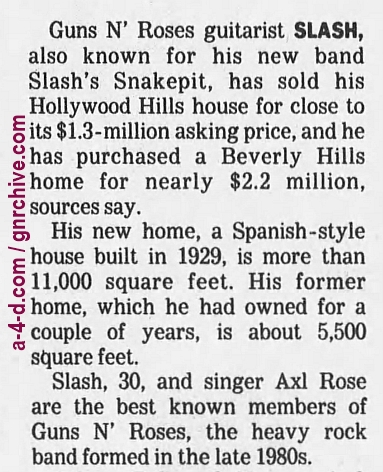 1996.08.25 - Los Angeles Times - Hot Property (Slash) 1996_026