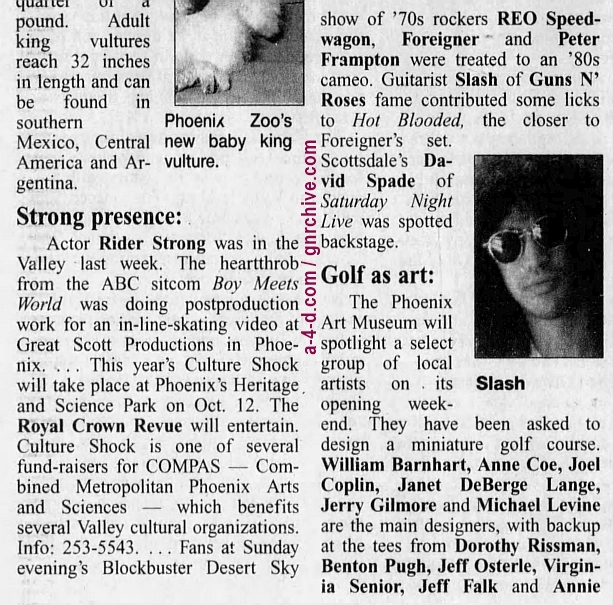 1996.08.27 - Arizona Republic - Short Notice (Slash) 1996_027