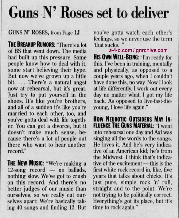1996.09.22 - Detroit Free Press - Guns N' Roses has a new disc that's pure rock (Duff) 1996_031
