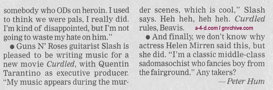 1996.10.20 - The Ottawa Citizen - Short Notice (Slash) 1996_113