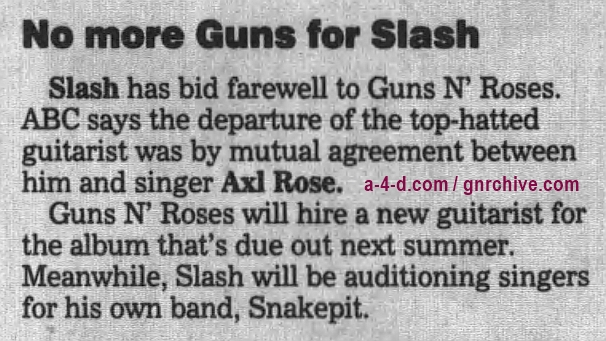 1996.11.01 - The Orlando Sentinel - No more Guns for Slash 1996_116