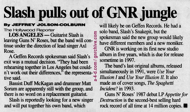 1996.11.02 - The Hollywood Reporter/The Record - Sans Slash 1996_119