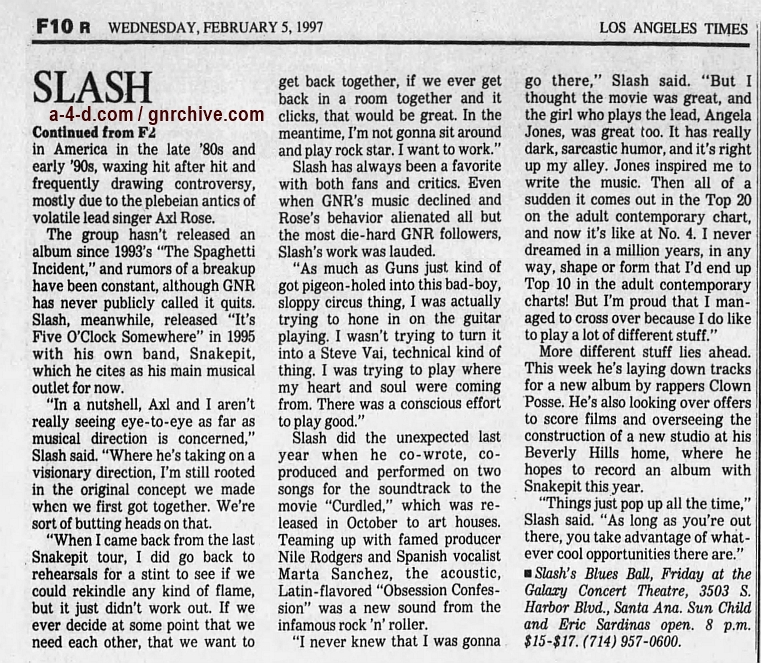 1997.02.07 - Los Angeles Times - With His Blues Band, Slash Just Wants to Have Fun (Slash) 1997_012