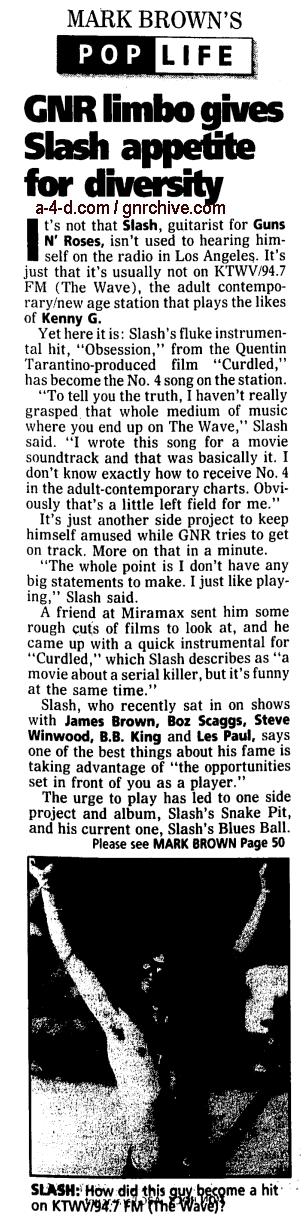 1997.01.31 - Orange County Register - GNR Limbo Gives Slash Appetite For Diversity 1997_014