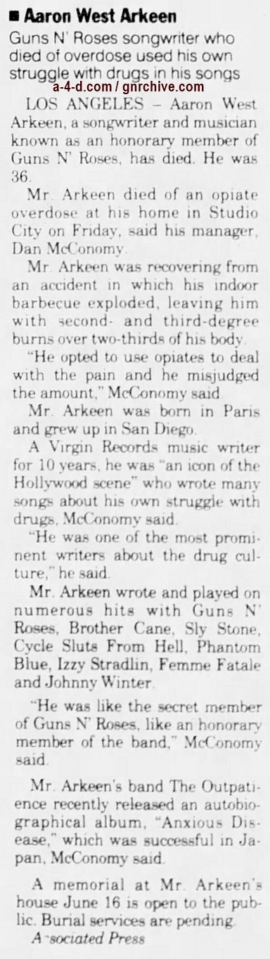 1997.06.03 - AP/The Sacramento Bee -  Aaron West Arkeen 1997_020