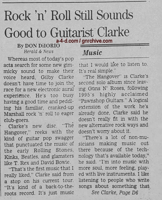 1997.11.21 - The Herald News - Rock 'n' Roll Still Sounds Good to Guitarist Clarke (Gilby) 1997_115