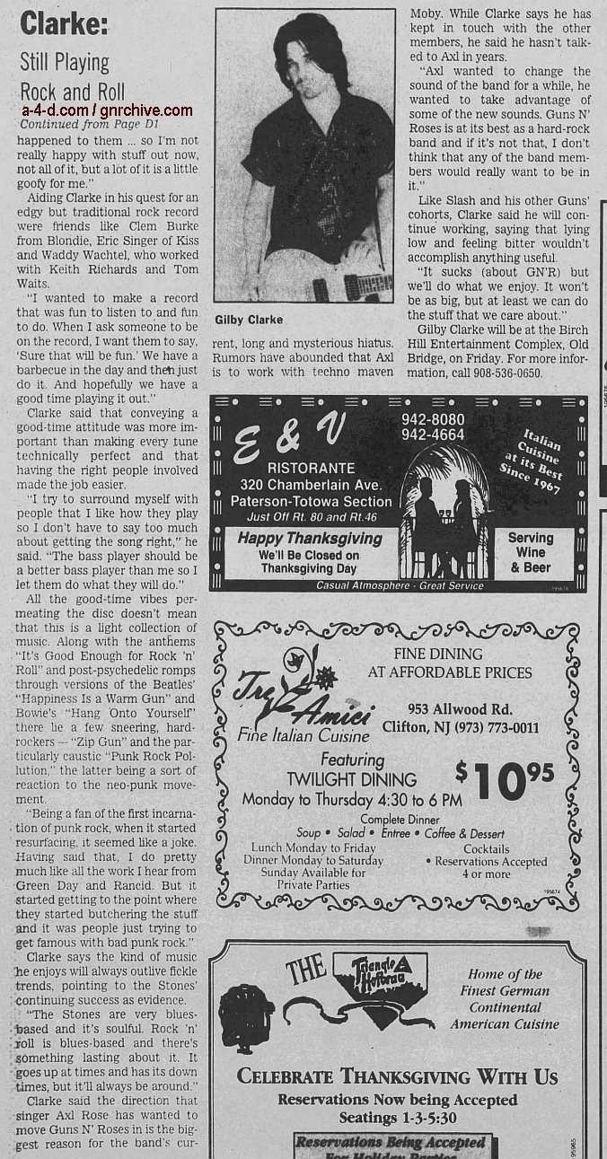1997.11.21 - The Herald News - Rock 'n' Roll Still Sounds Good to Guitarist Clarke (Gilby) 1997_116
