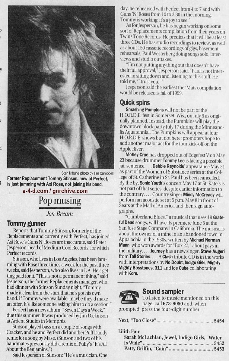 1998.04.28 - Star Tribune - Tommy Gunner 1998_013