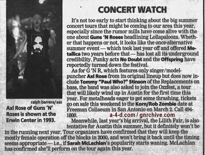1999.01.21 - Austin American-Statesman - Concert Watch 1999_022