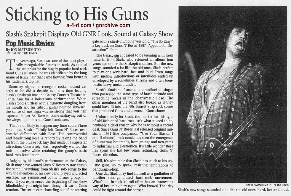 1999.02.15 - Los Angeles Times - Sticking to His Guns (Slash) 1999_024