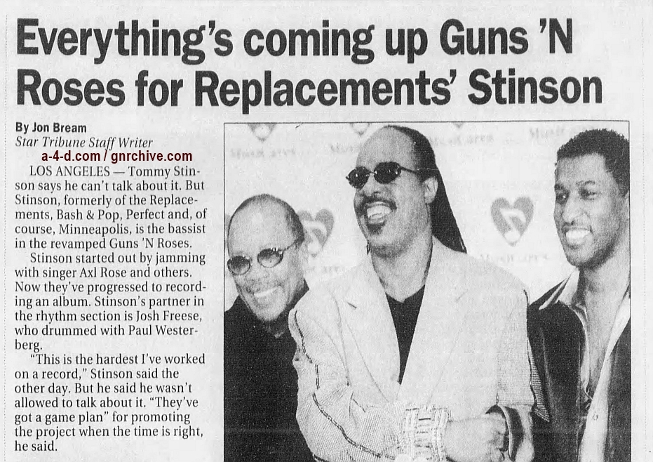 1999.02.26 - Star Tribune - Everything's Coming Up Guns 'N Roses For Replacements' Stinson 1999_025