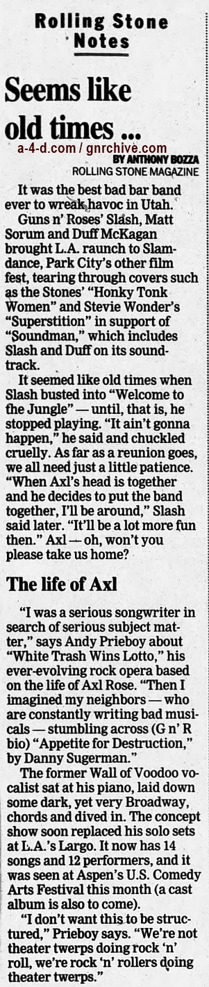 1999.03.15 - Rolling Stone/Kenosha News - Seems Like Old Times... 1999_026