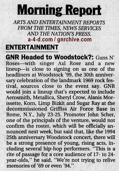 1999.04.01 - Los Angeles Times - GN'R Headed To Woodstock? 1999_027