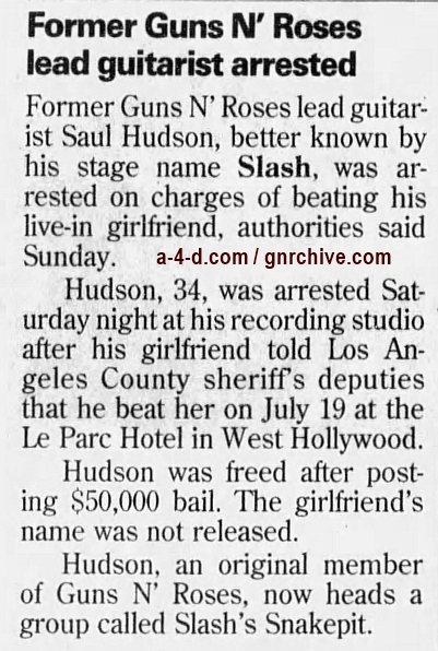 1999.07.26 - Los Angeles Times - Rocker Booked In Alleged Beating (Slash) 1999_037