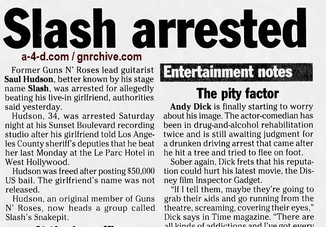 1999.07.26 - Los Angeles Times - Rocker Booked In Alleged Beating (Slash) 1999_038