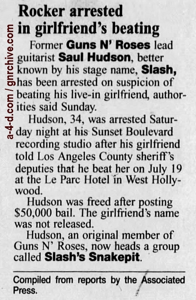 1999.07.26 - Los Angeles Times - Rocker Booked In Alleged Beating (Slash) 1999_039