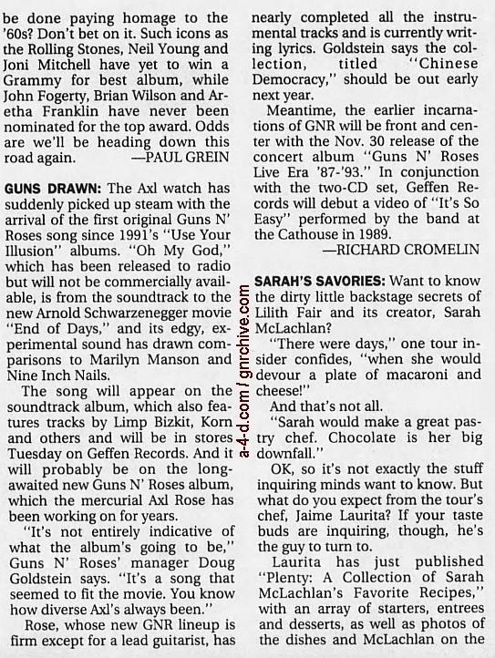 1999.11.07 - Los Angeles Times - Guns Drawn 1999_111